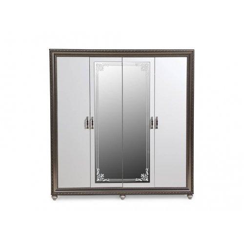 Шкаф гардеробный Элизабет белый четырехдверный