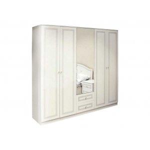 Шкаф пятидверный Стелла белая