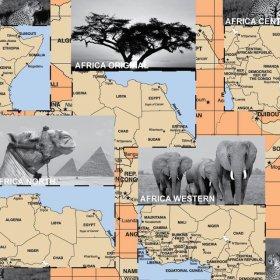 Поликоттон Экожаккард Африка