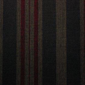 Ткань жаккард Шотландия Stripe Dk Grey