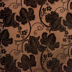Ткань шенилл Шайн Flower Chocolate