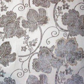 Ткань шенилл Шайн Flower Grey