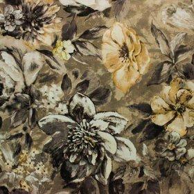 Ткань велюр Фиона Flower Grey
