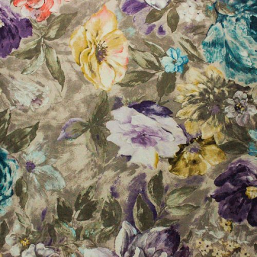 Ткань велюр Фиона Flower Violet