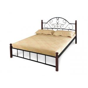 Кровать Анжелика с деревянными ножками160х190