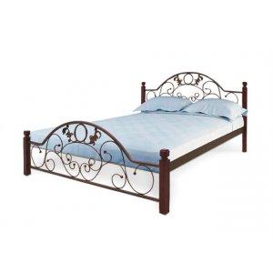 Кровать Франческа с деревянными ножками 180х200