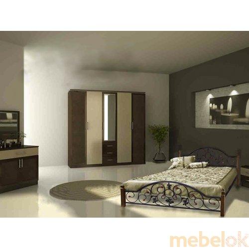 Кровать Жозефина на деревянных ножках 140х200