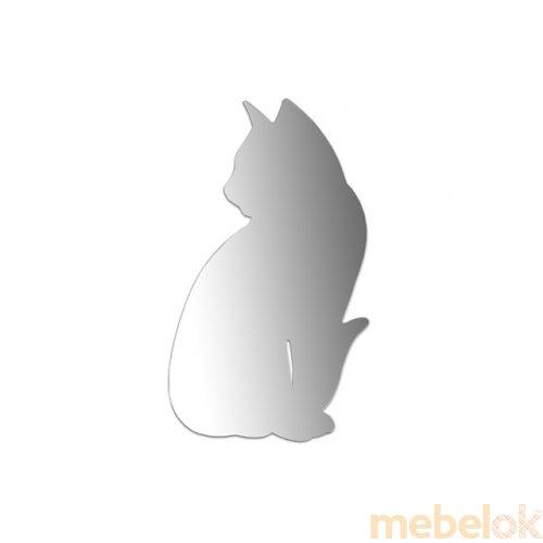 Зеркальное отображение - Зеркало - сидящая Кошка