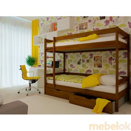 Двухэтажная кровать Твикс 90х200