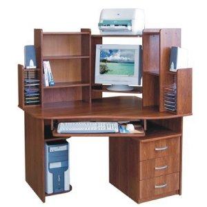 Компьютерный стол Прометей дуб шамони светлый
