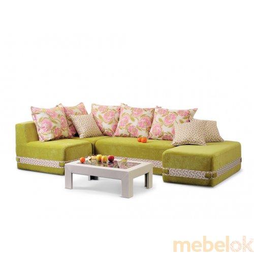 Зеркальное отображение - Бескаркасный угловой диван Максимус