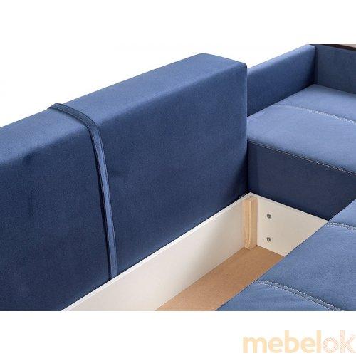 мягкий угловой диван с видом в обстановке (Диван Нео-2-Ля)