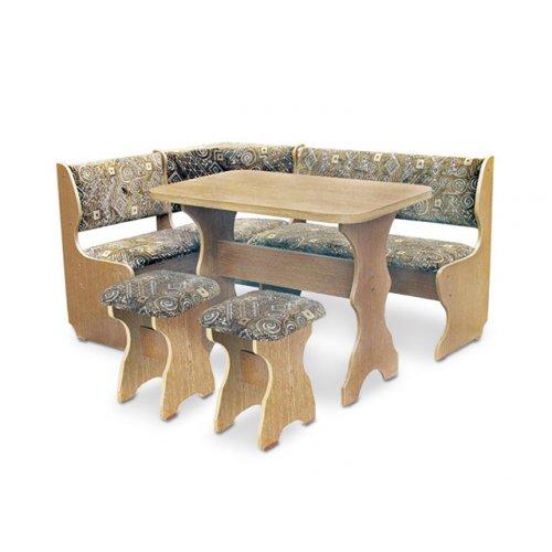 Кухонный уголок Барон с раскладным столом и табуретами