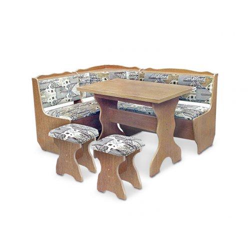 Кухонный уголок Фараон с раскладным столом и табуретами