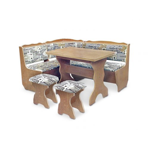 Кухонный уголок Фараон со столом и табуретами