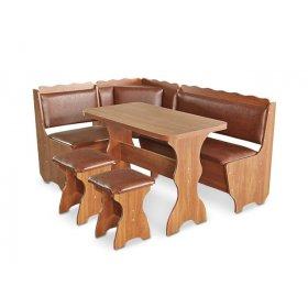 Кухонный уголок Граф с раскладным столом и табуретами