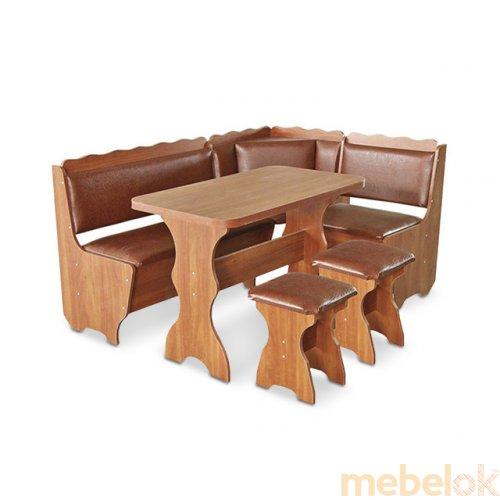 Зеркальное отображение - Кухонный уголок Граф со столом и табуретами