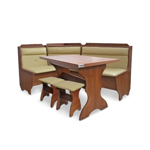 Кухонный уголок Кардинал с раскладным столом и табуретами