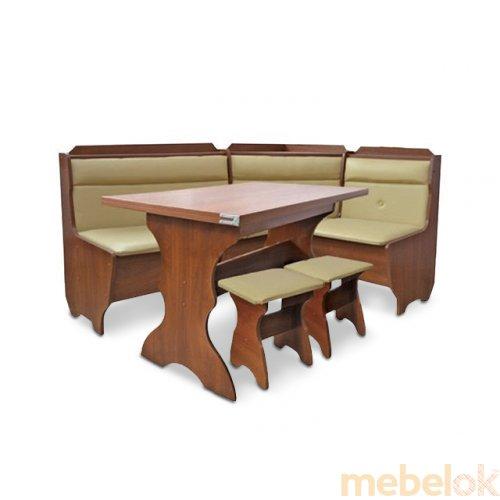 Зеркальное отображение - Кухонный уголок Кардинал с раскладным столом и табуретами
