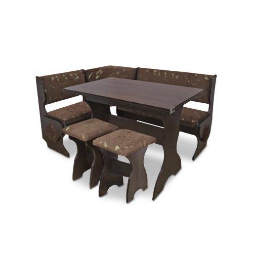 Кухонный уголок Маркиз с раскладным столом и табуретами