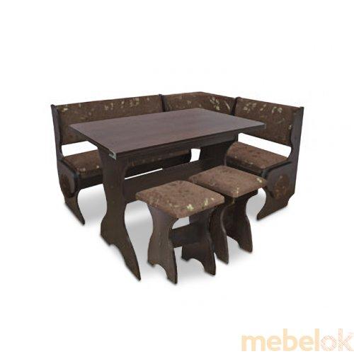 Зеркальное отображение - Кухонный уголок Маркиз с раскладным столом и табуретами