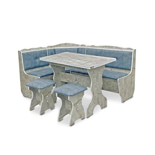 Кухонный уголок Президент с раскладным столом и табуретами