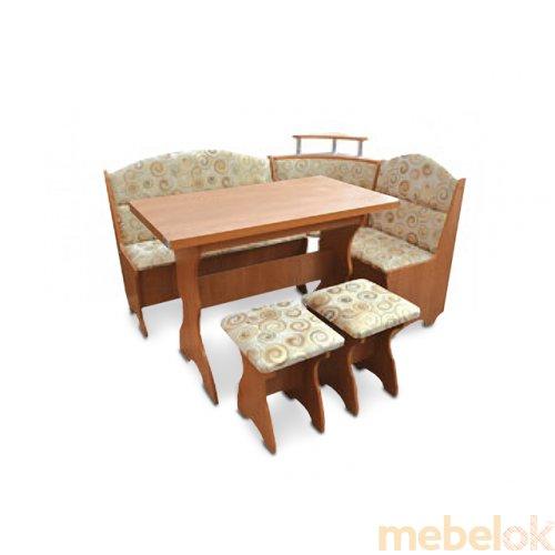 Зеркальное отображение - Кухонный уголок Сенатор с раскладным столом и табуретами
