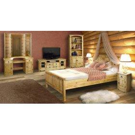 Сосновый спальный гарнитур