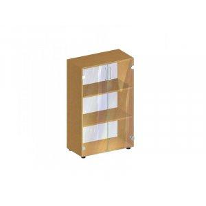 Стеллаж со стеклянными дверцами БЮ 410 70х34.7х110.3 см