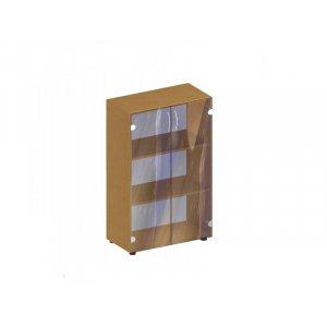 Стеллаж со стеклянными дверцами БЮ 417 40.6х42.2х58.4 см