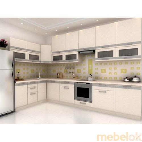 Зеркальное отображение - Кухня Адель-10 дуб молочный (4,2 м)