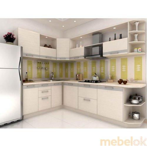 Зеркальное отображение - Кухня Адель дуб молочный (2,7х1,8 м)