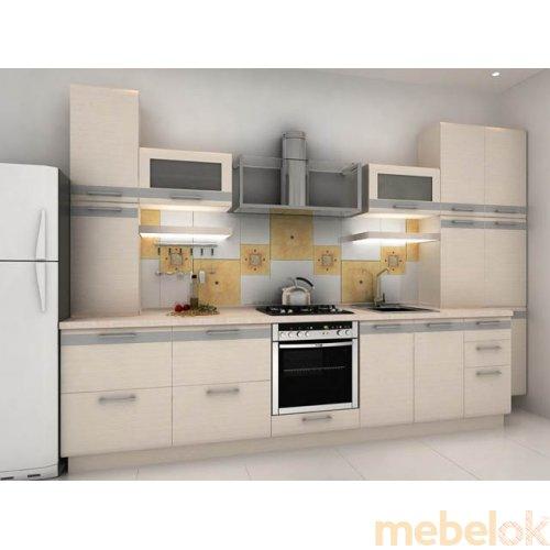 Зеркальное отображение - Кухня Адель-6 дуб молочный (3,8 м)
