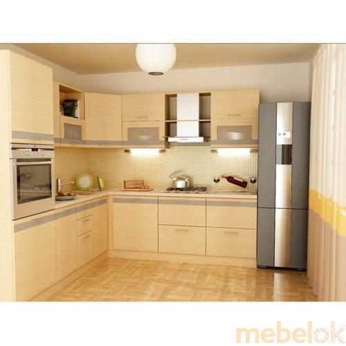 Зеркальное отображение - Кухня Адель-5 дуб молочный (4,2 м)