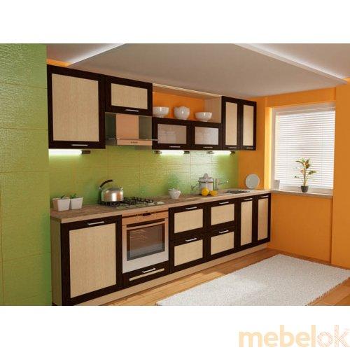 Зеркальное отображение - Кухня Адель-1 дуб венге (3,2 м)