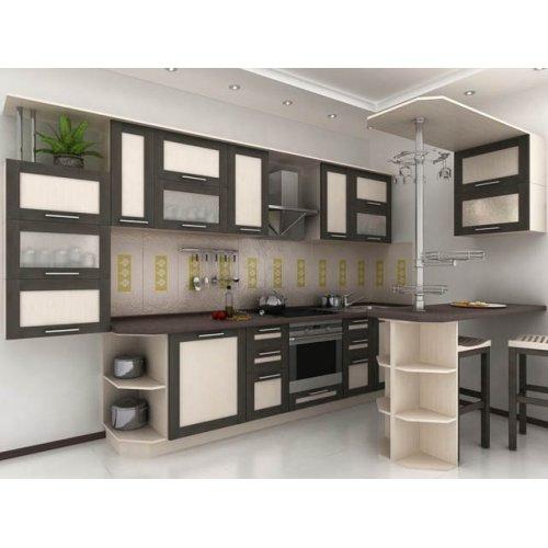 Кухня Адель-5 дуб венге (4,1 м)