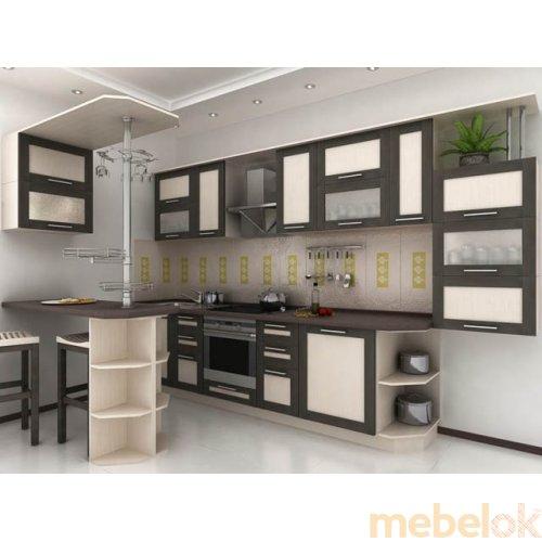 Зеркальное отображение - Кухня Адель-5 дуб венге (4,1 м)