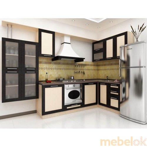 Зеркальное отображение - Кухня Адель-3 дуб венге (4 м)
