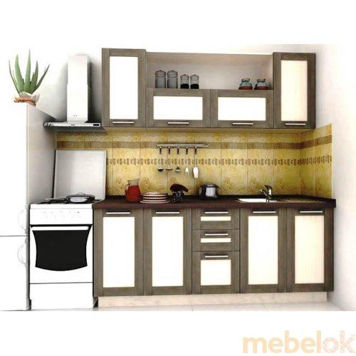 Зеркальное отображение - Кухня Адель-7 дуб венге (2 м)
