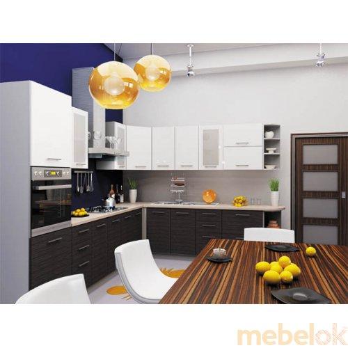 Зеркальное отображение - Кухня Сити-4 (5,1 м)