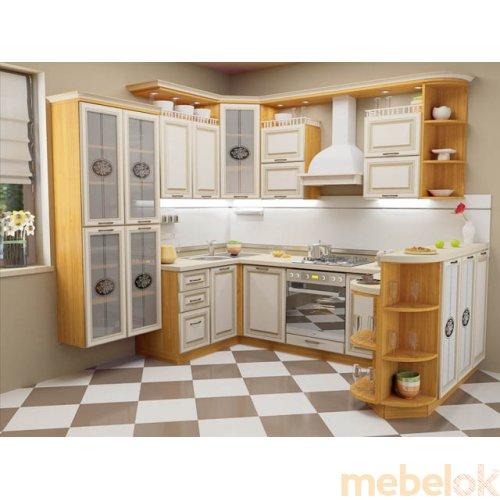 Зеркальное отображение - Кухня Классик-3 (3,7х1,8 м)