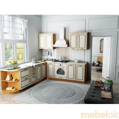 Зеркальное отображение - Кухня Классик-7 (2,4х2,1 м)