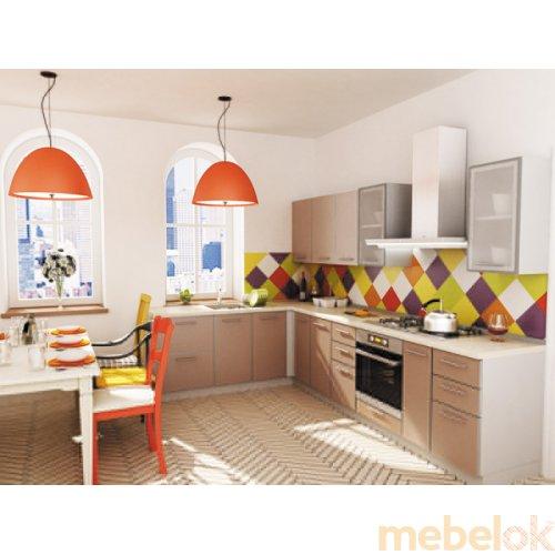 Зеркальное отображение - Кухня Капучино-1 (3,1х1,4 м)