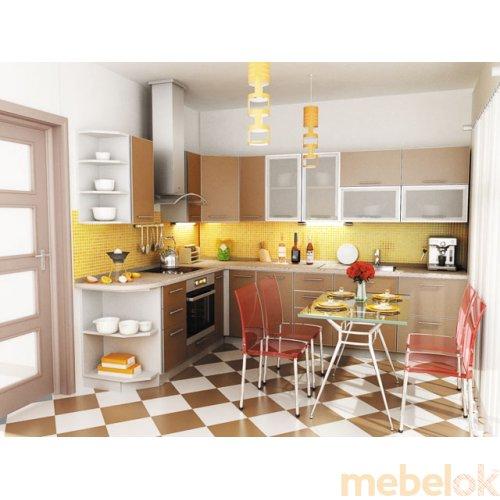 Зеркальное отображение - Кухня Капучино-3 (3,2х1,4 м)