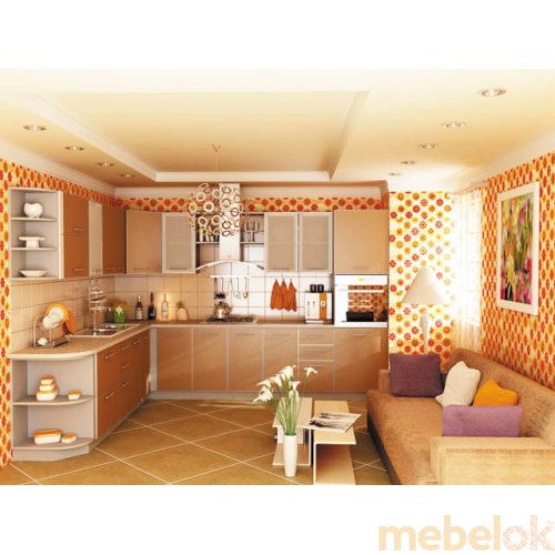 Зеркальное отображение - Кухня Капучино-7 (3,2х2,1 м)