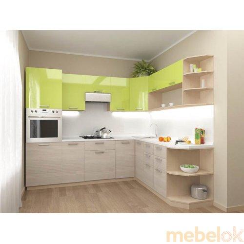 Зеркальное отображение - Кухня Киви-1 (2,1х2 м)