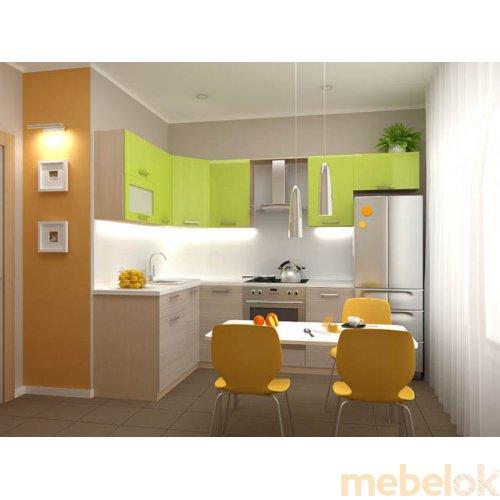 Зеркальное отображение - Кухня Киви-2 (2,6х1,6 м)