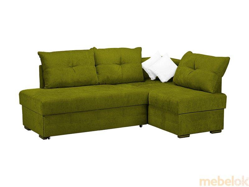 мягкий угловой диван с видом в обстановке (Диван угловой Белуччи)