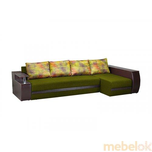 мягкий угловой диван с видом в обстановке (Диван угловой Элвис-1)