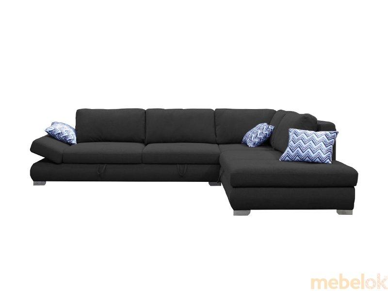 мягкий угловой диван с видом в обстановке (Диван угловой Вента lux)